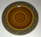 IRONSTONE DAISY Pattern Stoneware SAUCER PLATE MULTIPLE AVAIL dish Brown Flowers