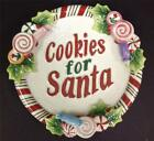 Fitz and Floyd Candy Christmas Cookies for Santa Plate with Box