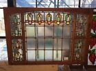 15 Pane Clear Glass with Multicolor Stained Glass Floral Border in Frame #7889