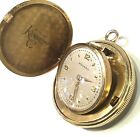 Vintage Mens Movado 18K Gold Pocket Watch Circa 1950s