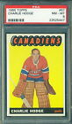 1965 66 TOPPS #67 CHARLIE HODGE PSA 8 NM-MT!! CANADIENS