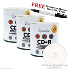 300 52X Smartbuy CD R White Thermal Printable Blank Disc+ Black Permanent Marker