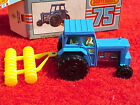 VINTAGE MATCHBOX FORD TRACTOR & HARROW #46 1977 MADE IN ENGLAND--SHIPS IN 1 DAY