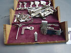 Old Antique Feb 19th 1889 Sewing Pieces Attachments In Small Wooden Box CG2367