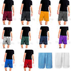 Mens Mesh Jersey Athletic Fitness Workout Colors Shorts 2 Pockets SizeS 5XL