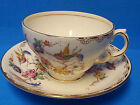 Melba Bone China Teacup and Saucer Flowers and Birds Pattern