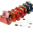 Genuine Leather Change Purse coin bag Ladies Wallet purse mini Framed co