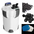 3-Stage External Canister Filter 265 GPH Aquarium Fresh/Salt Water FREE MEDIA