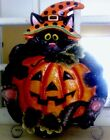 Fitz And Floyd Halloween Cat Candy Bowl Scaredy Cat Harvest 658/110