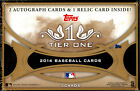 2014 Topps Tier One Baseball Factory Sealed Hobby Box