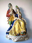 Vtg 1930-40 Mark GOEBEL Lady Woman & Gentleman Man Figurine WWII Germany