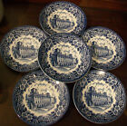 Vintage English Ironstone Saucers Schloss Esterházy Blue & White REDUCED!!!!