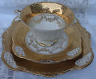 VINTAGE ALKA BAVARIA 3 PIECES DISPLAYING SET (CUP AND SAUCER & PLATE) . SIGNED.