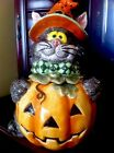 Fitz And Floyd Scaredy  Cat Cookie Jar 11