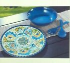 Outdoor Food Dish Serveware Melamine Set Utensils Bowl Plate Fork Spoon