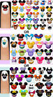 60 x Disney Characters OR  Princesses OR Villains Nail Art Decals + Free Gift