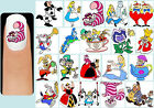 60x ALICE IN WONDERLAND Nail Art Decals + Free Gift Disney Cheshire Cat Queen