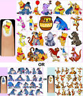 60x Winnie The Pooh & Friends OR Eeyore OR Tigger Nail Art Decals + Free Gift