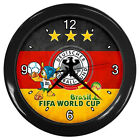 New FIFA World Cup Brasil  Germany National Team Wall Clock # Silver OR Black