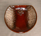 Large Haeger pottery brown drip owl plate/platter