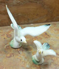 Vintage Pair of BONE CHINE Small BIRD Figurines TAIWAN Sticker Present Porcelain