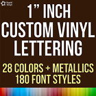 1 Inch Custom Vinyl Lettering Numbers Transfer Decal Sticker Wall Window Glass