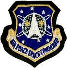 USAF UNITED STATES AIR FORCE SPACE COMMAND AFSPC LEATHER VELCRO MILITARY PATCH