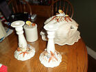 8 piece Fitz and Floyd shell soup turrine - vintage retired rare set