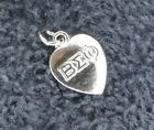 Sterling Silver Scrap/Not ~1 gram Beta Sigma Phi Honor Society Heart Charm