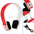 INFINITY BLUETOOTH WIRELESS HEADSET/HEADPHONES WITH CALL MIC/MICROPHONE RED