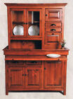 Large Pine Hoosier Cabinet, Antique Reproduction, Chestnut Finish, made in USA