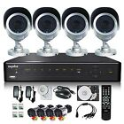 +1TB SANNCE 4CH 960H HDMI Alarm DVR Day&Night Outdoor Camera CCTV Security Syste