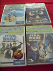 Lot of 4 LEAP FROG LEAPSTER /LEAPSTER 2 GAMES - Star wars, Up and Wall-E