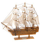 Hms Victory Ship Model Tall Lifelike Schooner Sail Boat Nautical Wood Art Decor