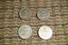 1950-1953 Mexican 25 Cents Silver Mexico Plata 4 Coin Complete Key Set NR1