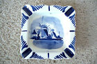 Vintage - DELFT - Holland - hand painted -  4.5 X 4.5 inch - Porcelain ash tray