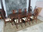 AMERICAN DREW DINING ROOM SET 8PC CLAW FEET CHIPPENDALE CHERRY