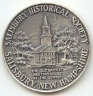 New Hampshire Silver Town Medal,Salisbury NH,1768-1968,Old Baptist Meeting House