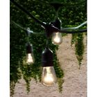48 Foot String Lights Vintage Patio Garden Wedding Black Cord Party Rope 15 Lts