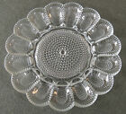Depression Indiana Candlewick Glass Deviled Egg Plate Hobnail Thousand Eye
