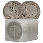 90 Silver Walking Liberty Half Dollars Roll of 20 10 Face Value