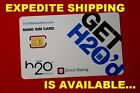 Nano-SIM *GSM* H❷ H2O Wireless (AT&T Network) H20 SIM Card for iPhone 5 5S 5C
