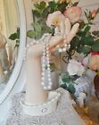 So Pretty Porcelain Button Cuffed Dainty Vtg Hand Mannequin Statue Display 12