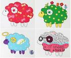 SHEEP LAMBS QUILTING CRAFTS HOME DECO FABRIC 100%COTTON PANEL