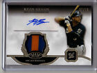 2013 Topps Tier One RYAN BRAUN 2 COLOR PATCH AUTO AUTOGRAPH SP #27 99!!