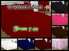 Plain Dyed Fitted Valance Sheet Poly-Cotton Bed Sheet Single Double
