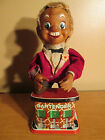 1960s Vintage Battery Operated Tin Litho Bar Bartender Toy Japan Good Condition