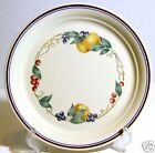 Corelle Abundance Dinner Plates Small Nick Set of 2 ONLY Fruits Peaches Berries