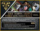 2014 Topps TRIPLE THREADS Football HOBBY Box nfl master w 2 mini boxes SEALED