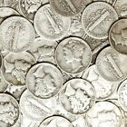 JUST ONE RANDOM DATE OLD CIRC MERCURY DIME FROM LARGE LOT OF U.S. SILVER COINS